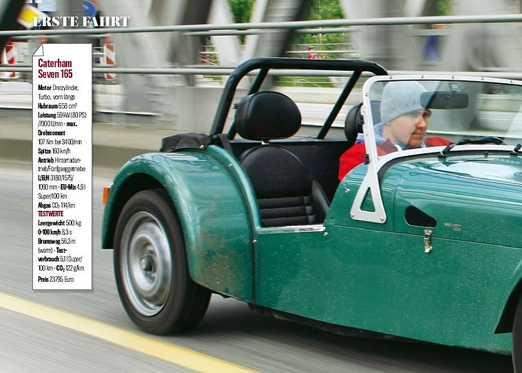 Supersportler mit 80 PS, Caterham Seven 165 - AUTOBILD.DE